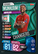 Champions League Match Attax 2020 Game Changers Cards