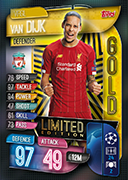 Champions League Match Attax 2020 Limited Edition Cards