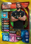 Champions League Match Attax 2020 UCL Record Holders Cards