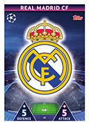 Champions League Match Attax On Demand 2019<br />Real Madrid Cards