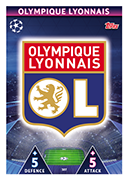 Champions League Match Attax Extra 2019<br />Olympique Lyon Cards