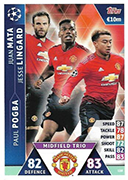 Champions League Match Attax Extra 2019<br />Trios Cards
