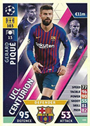 Champions League Match Attax Extra 2019<br />Centurion Cards