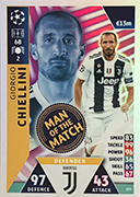 Champions League Match Attax Extra 2019<br />Man Of The Match Cards
