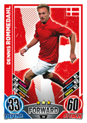 Match Attax England 2012 Denmark Cards