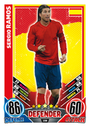 Match Attax England 2012 Spain Cards