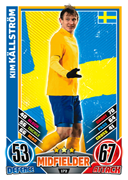 Match Attax England 2012 Sweden Cards