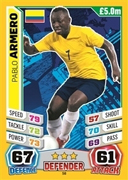 Match Attax England 2014 Colombia Cards