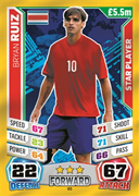 Match Attax England 2014 Costa Rica Cards