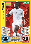 Match Attax England 2014 Ghana Cards