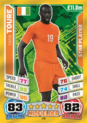 Match Attax England 2014 Ivory Coast Cards
