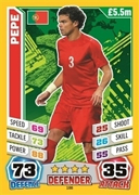 Match Attax England 2014 Portugal Cards