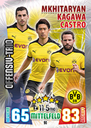 Germany Match Attax 2016 Offensive Trios Cards