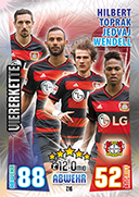 Germany Match Attax 2016 Back Fours Cards