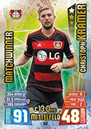 Germany Match Attax 2016 Match Winners Cards