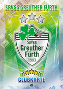 Germany Match Attax 2016 Greuther Furth Cards