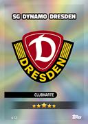 Germany Match Attax 2017<br />Dynamo Dresden Cards