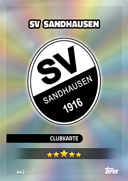 Germany Match Attax 2017 Sandhausen Cards