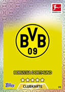 Germany Match Attax 2018 Borussia Dortmund Cards