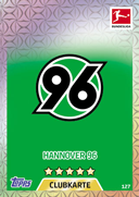 Germany Match Attax 2018 Hannover Cards