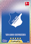 Germany Match Attax 2018 Hoffenheim Cards