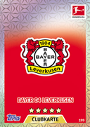 Germany Match Attax 2018 Bayer Leverkusen Cards