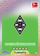Germany Match Attax 2018 Borussia Monchengladbach Cards