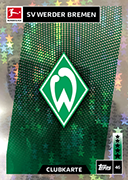 Germany Match Attax 2019 Werder Bremen Cards