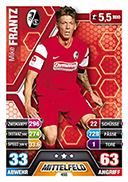 Germany Match Attax Extra 2015 Freiburg Cards