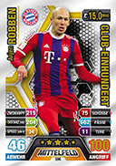 Germany Match Attax Extra 2015 100 Club Cards