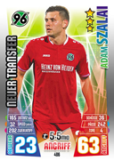 Germany Match Attax Extra 2016 New Transfers Cards