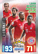 Germany Match Attax Extra 2016 Back Fours Cards
