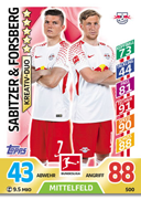 Germany Match Attax Extra 2018 Duo Cards