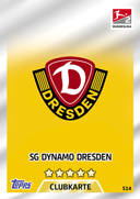 Germany Match Attax Extra 2018 Dynamo Dresden Cards