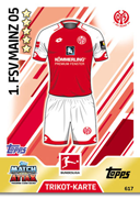 Germany Match Attax Extra 2018 Mainz Cards