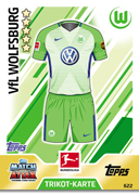 Germany Match Attax Extra 2018 Wolfsburg Cards
