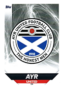 Scotland Match Attax 2019 Ayr United Cards