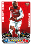 Match Attax Extra 2012 Arsenal Cards