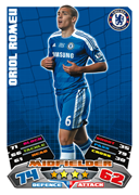 Match Attax Extra 2012 Chelsea Cards