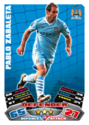 Match Attax Extra 2012 Manchester City Cards
