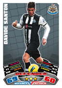 Match Attax Extra 2012 Newcastle United Cards