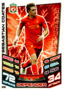 Match Attax Extra 2013 Liverpool Cards