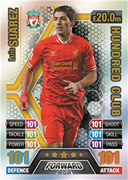 Match Attax Extra 2014 100 Club Cards