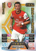 Match Attax Extra 2014 Man Of The Match Cards