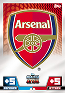 Match Attax Extra 2015 Arsenal Cards