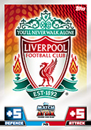 Match Attax Extra 2015 Liverpool Cards