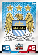 Match Attax Extra 2015 Manchester City Cards