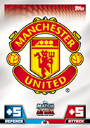 Match Attax Extra 2015 Manchester United Cards