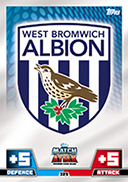 Match Attax Extra 2015 West Bromwich Albion Cards