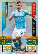 Match Attax Extra 2016 100 Club Cards